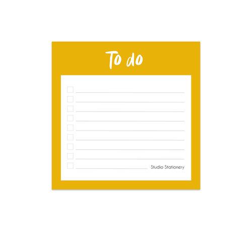 Studio Stationery Noteblock Mini To Do Oker