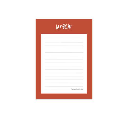 Studio Stationery Noteblock Urgent