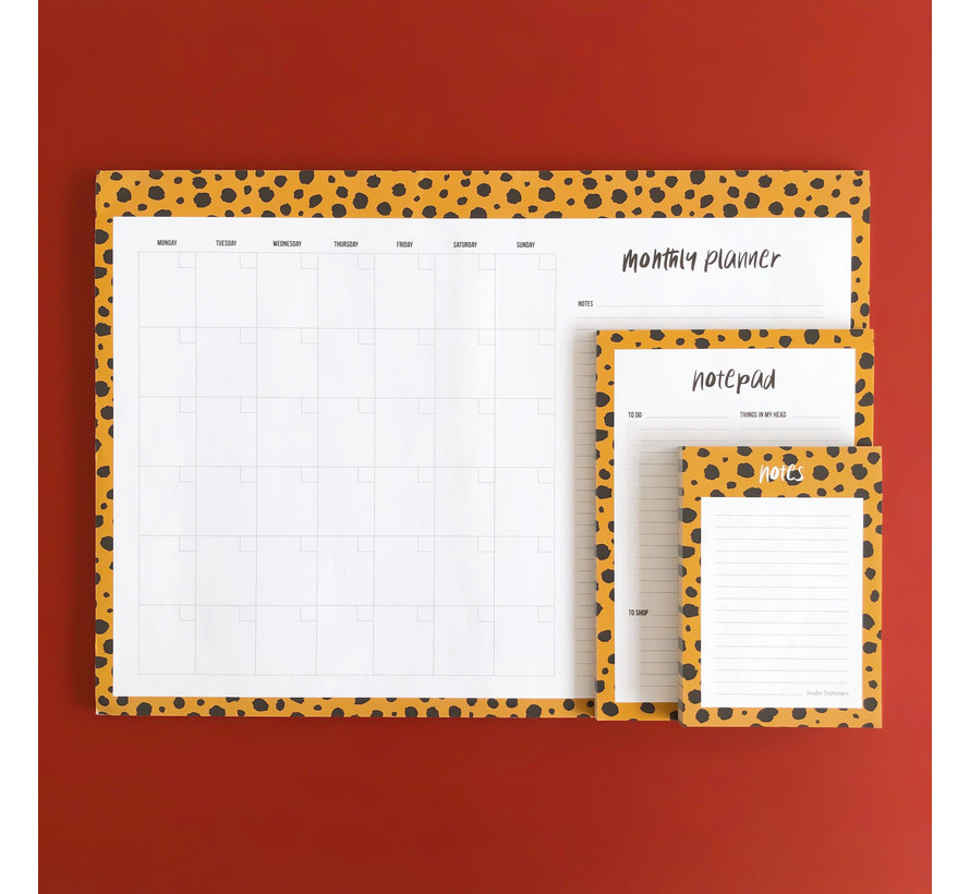 Montly Planner Cheeta - Desk Planner