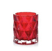 Yankee Candle Nordic Glass Red Votive Holder