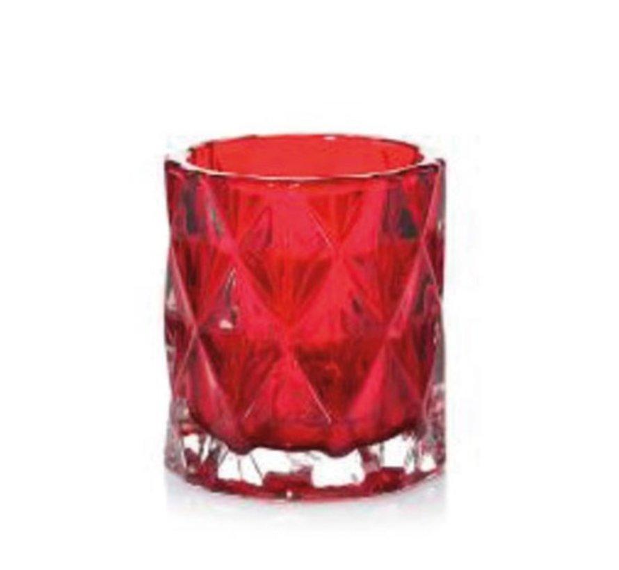 Nordic Glass Red Votive Holder