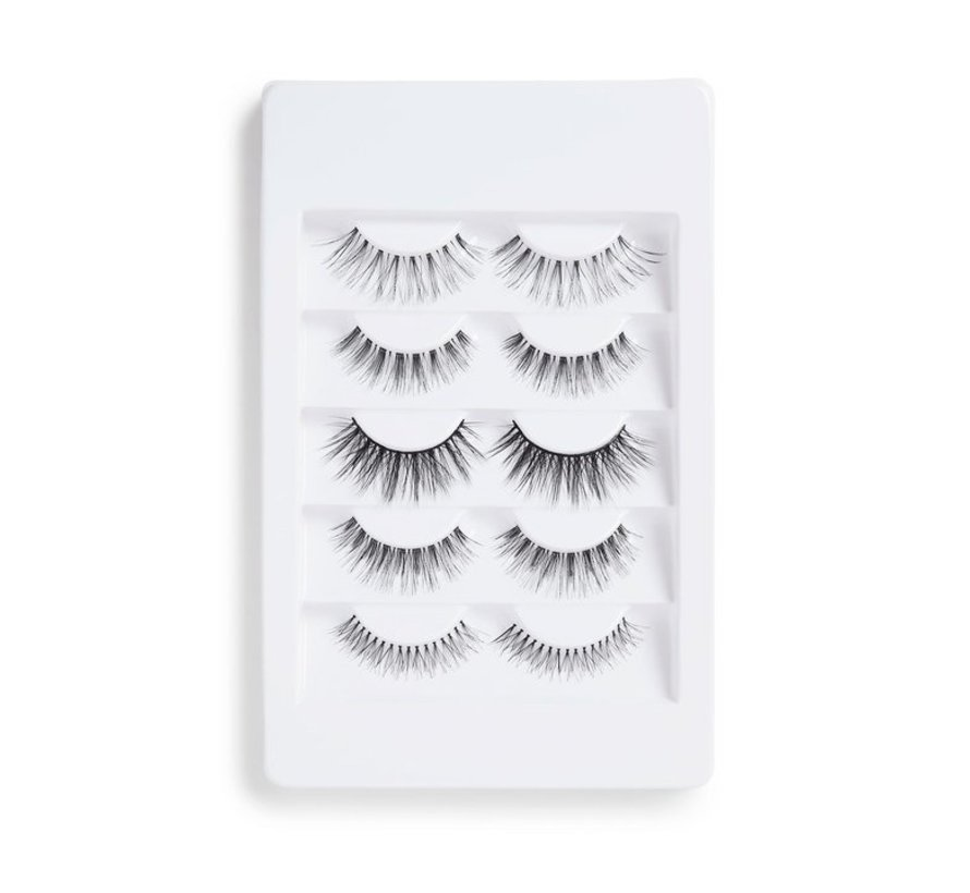 5 Pack Mixed Wispy Lashes - Nepwimpers