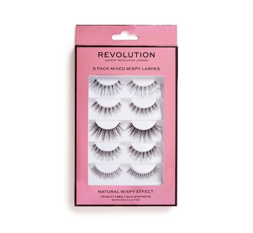 Makeup Revolution 5 Pack Mixed Wispy Lashes - Nepwimpers