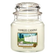 Yankee Candle Clean Cotton - Medium Jar