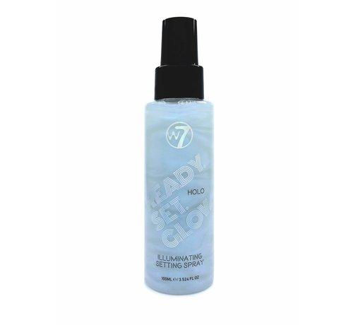W7 Make-Up Ready Set Glow Setting Spray - Holo