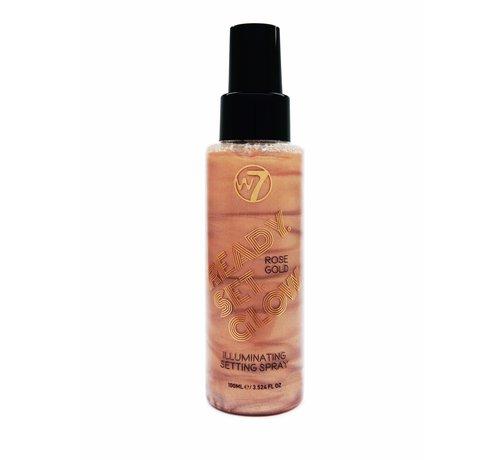W7 Make-Up Ready Set Glow Setting Spray - Rose Gold
