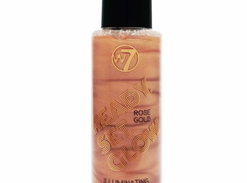 W7 Make-Up Ready Set Glow Setting Spray - Rose Gold