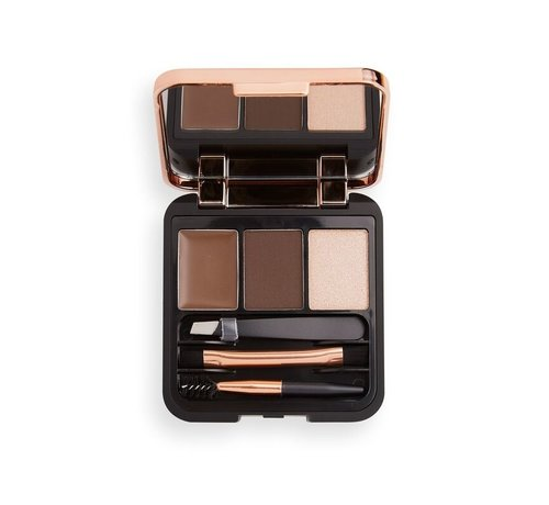 Makeup Revolution Brow Sculpt Kit - Dark Brown