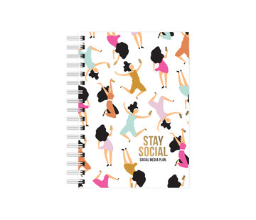 Studio Stationery Notebook - Stay Social