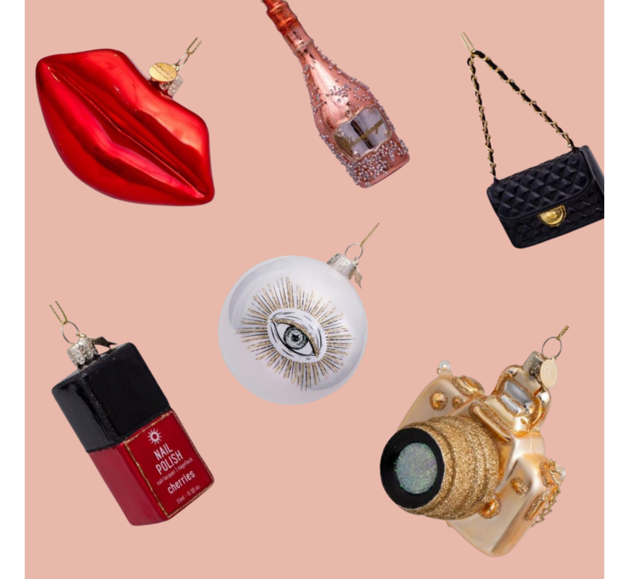 Kerstbal - Rose Gold Champagne Bottle