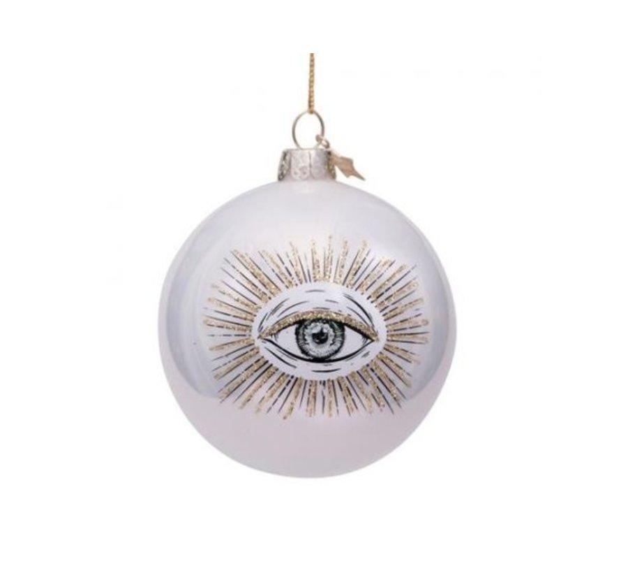 Kerstbal - White Pearl Eye