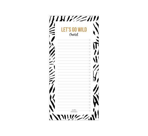 Studio Stationery Noteblock Checklist - Let's Go Wild