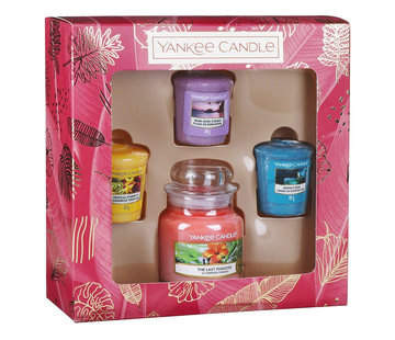 Yankee Candle The Last Paradise 3 Votive & 1 Small Jar Gift Set