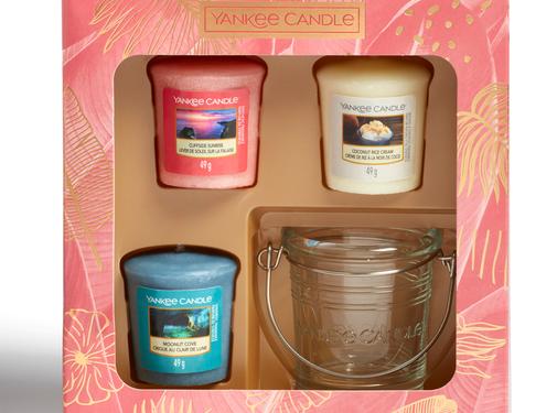 Yankee Candle The Last Paradise 3 Votive & 1 Holder Gift Set
