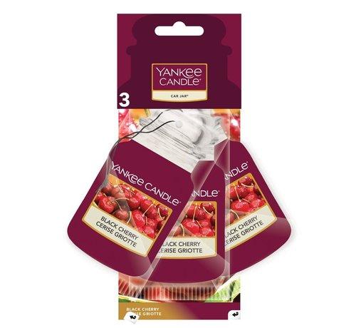 Yankee Candle Black Cherry Car Jar 3-Pack