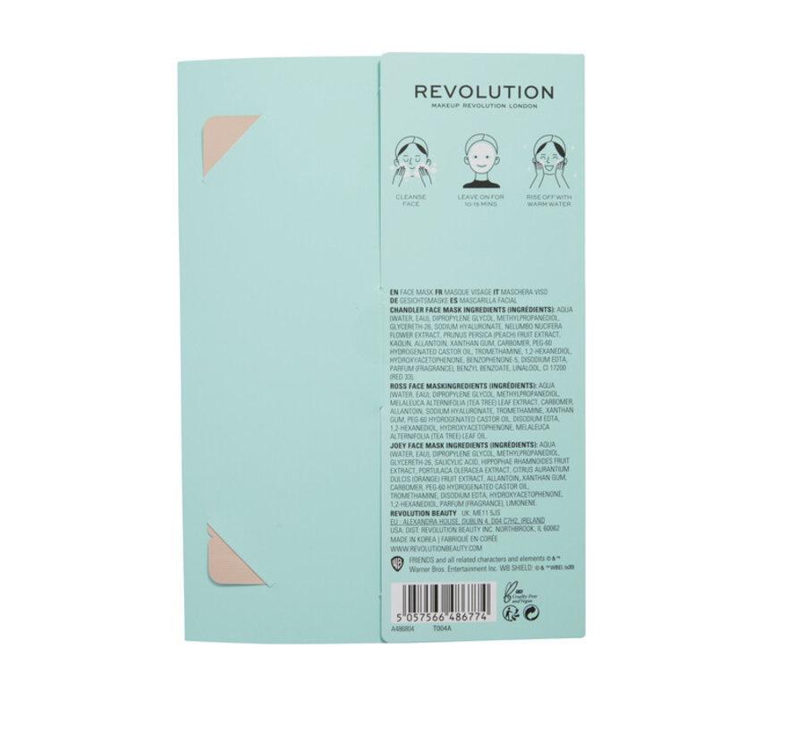 X Friends - Male Sheet Mask Set
