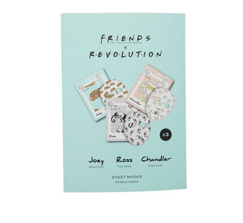 Makeup Revolution X Friends - Male Sheet Mask Set