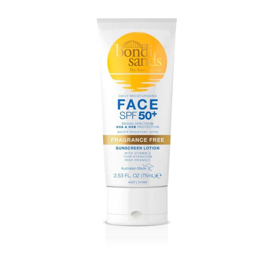 Face Sunscreen Lotion Fragrance Free - SPF 50+  - Zonnebrand