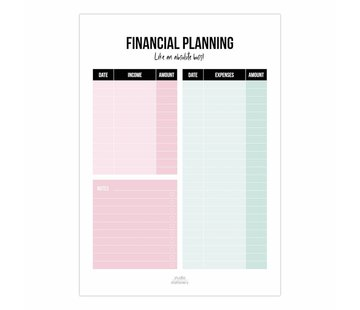 Studio Stationery Noteblock Financial Planning