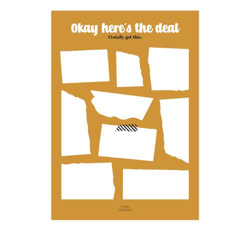 Studio Stationery Noteblock Okay Here's The Deal Oker