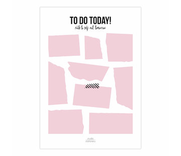 Studio Stationery Noteblock To Do Today Pink
