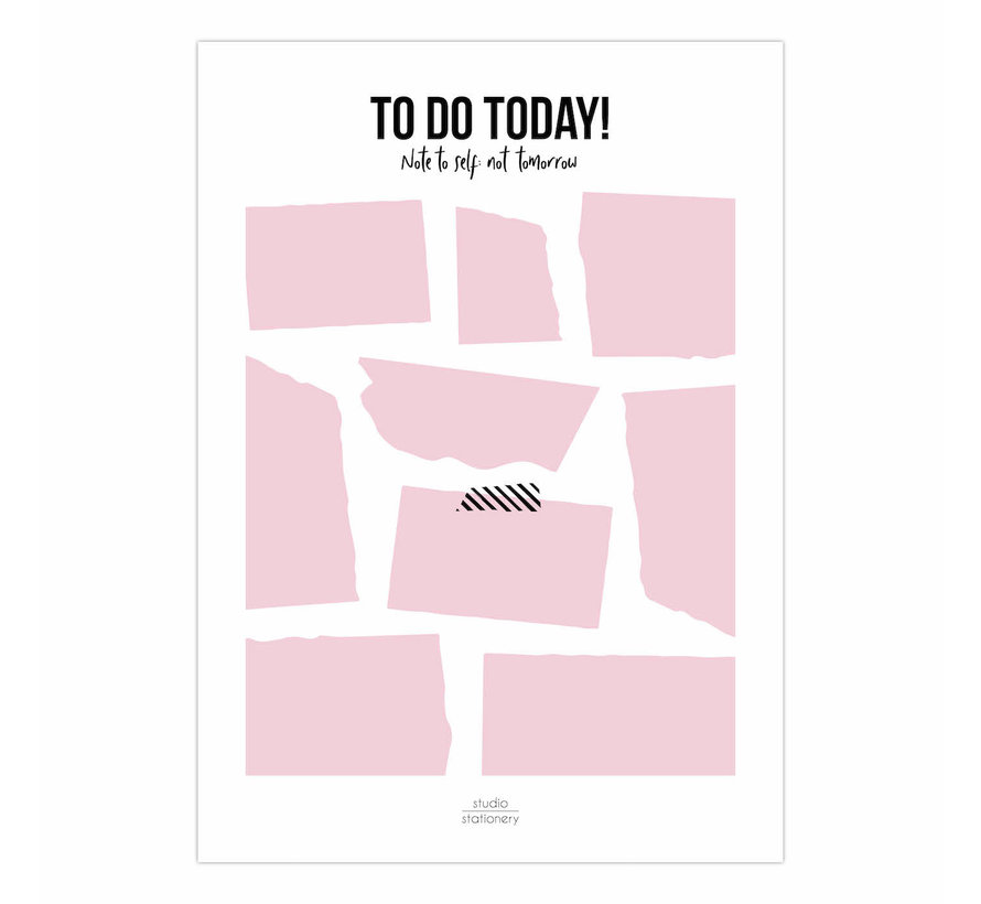 Noteblock To Do Today Pink