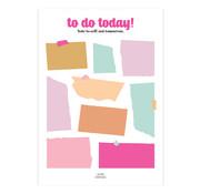 Studio Stationery Noteblock To Do Today Multicolor