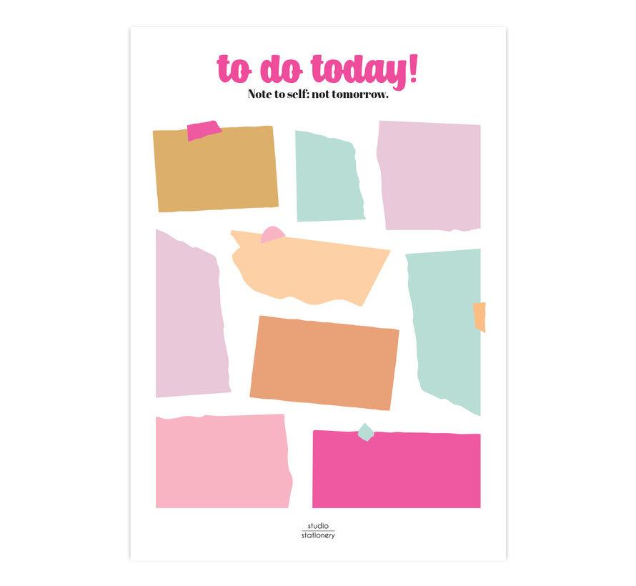 Noteblock To Do Today Multicolor