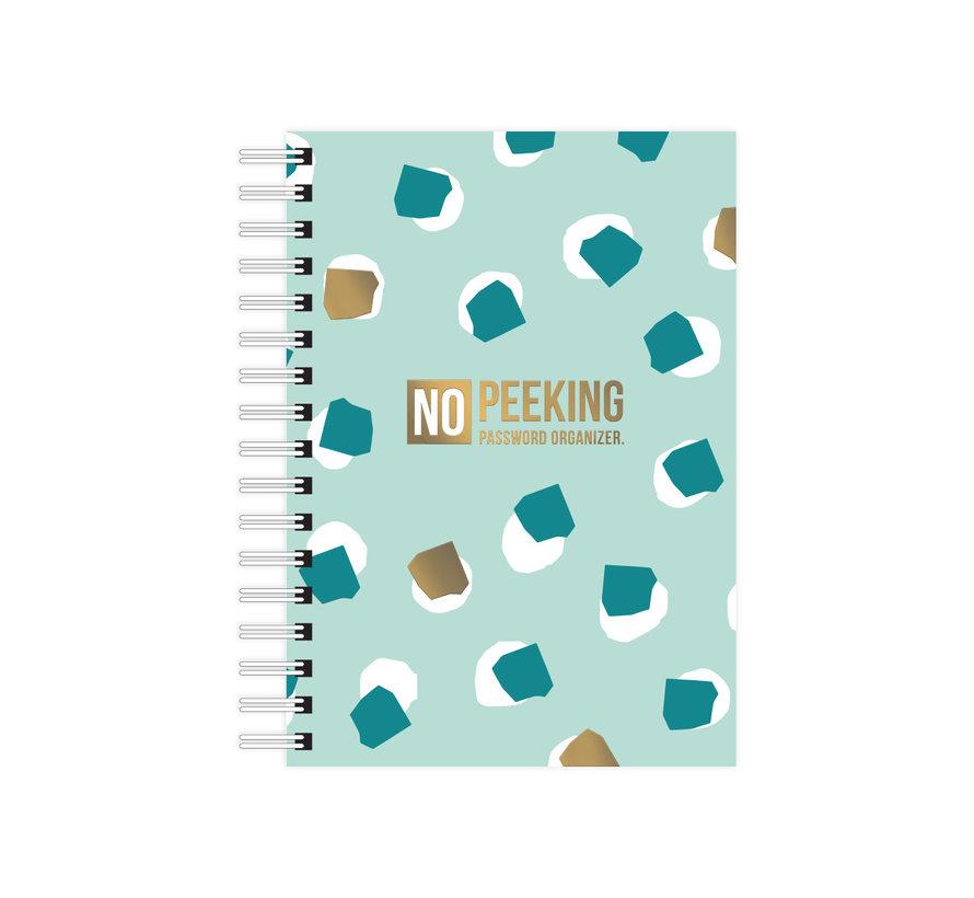 Notebook No Peeking Password Organizer