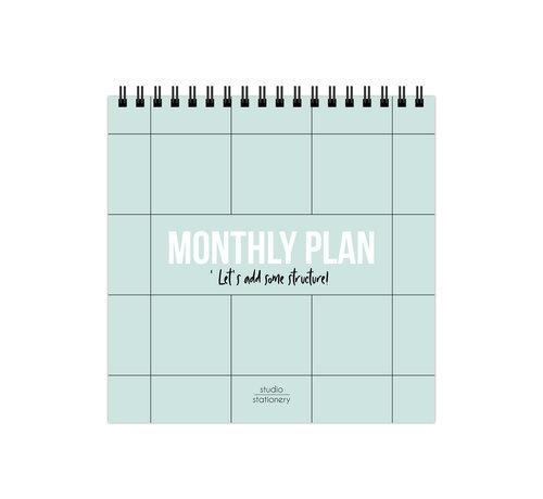 Studio Stationery Monthly Plan Bureaukalender
