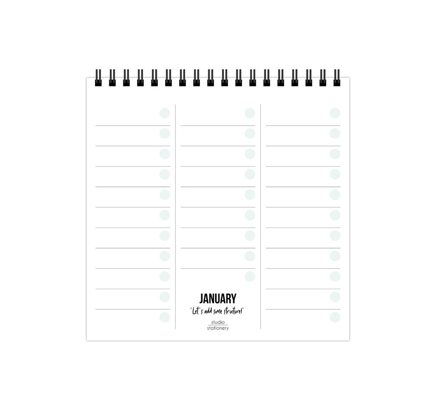 Monthly Plan Bureaukalender
