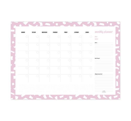Studio Stationery Monthly Deskplanner Confetti Lila