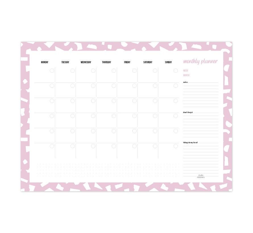 Monthly Deskplanner Confetti Lila