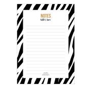 Studio Stationery Noteblock Zebra Black & White