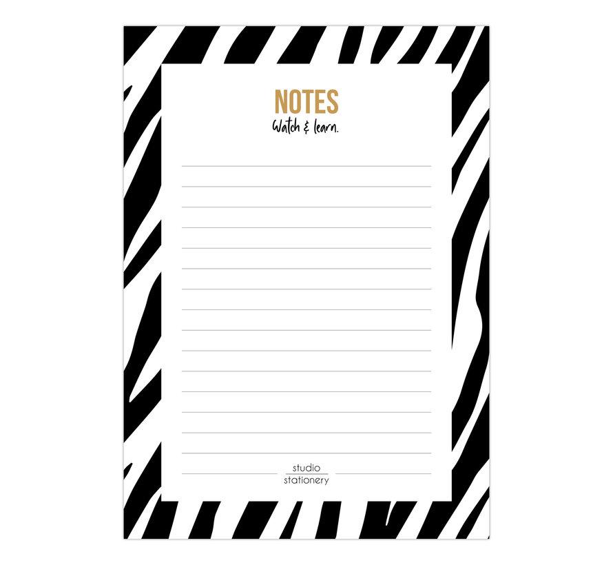 Noteblock Zebra Black & White