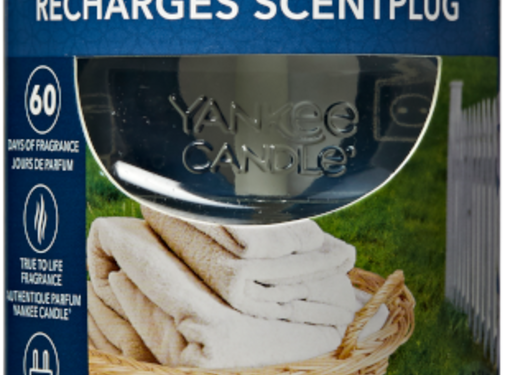 Yankee Candle Clean Cotton - Scentplug Refill