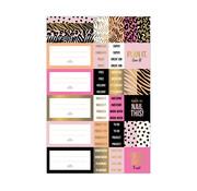 Studio Stationery Stickervellen - Pink & Gold
