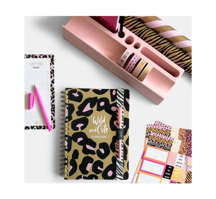 Stickervellen - Pink & Gold