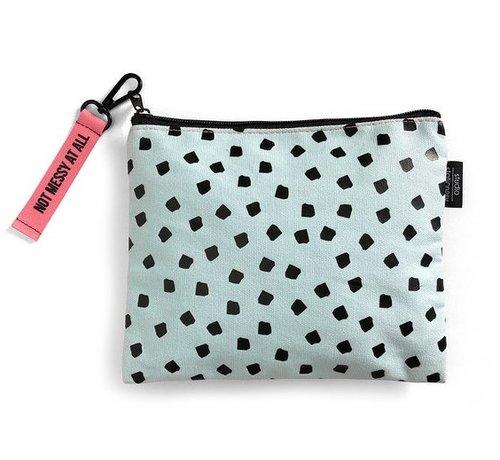 Studio Stationery Canvas Bag - Mint Dots