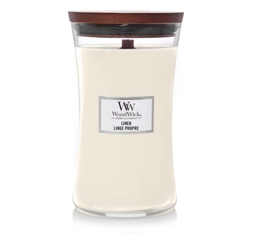 WoodWick Linen - Large Candle