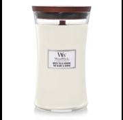 WoodWick White Tea & Jasmine - Large Candle