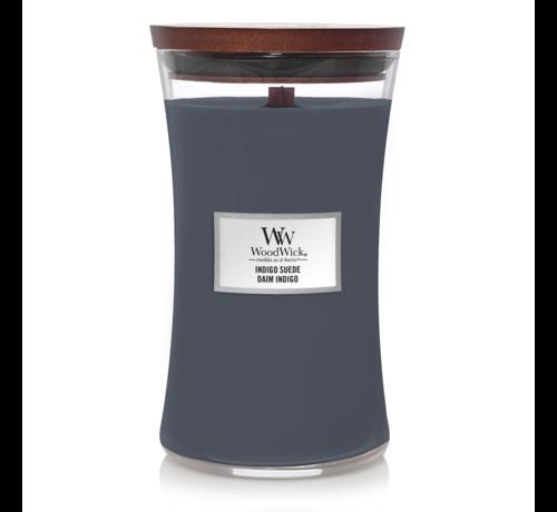 WoodWick Indigo Suede - Large Candle