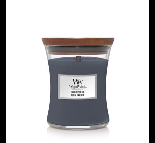 WoodWick Indigo Suede - Medium Candle