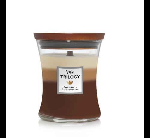WoodWick Trilogy Café Sweets - Medium Candle