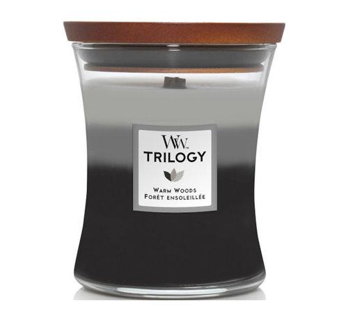 WoodWick Trilogy Warm Woods - Medium Candle