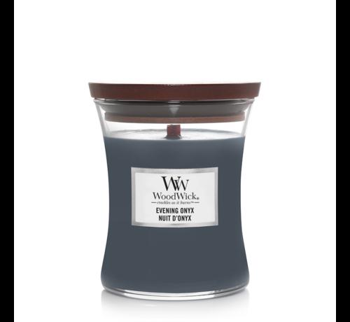 WoodWick Evening Onyx - Medium Candle
