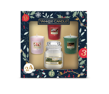 Yankee Candle Countdown To Christmas 3 Votive & 1 Small Jar Gift Set