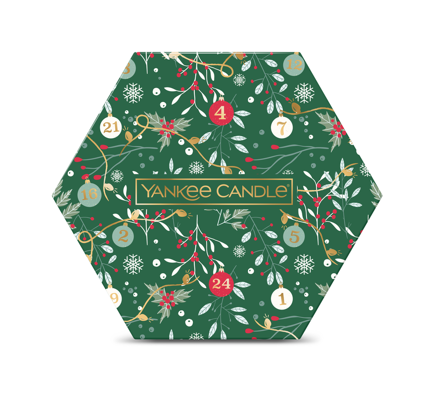 Countdown To Christmas 18 Tea Light & 1 Holder Gift Set