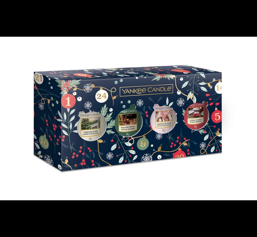 Countdown To Christmas 4 Votive Gift Set