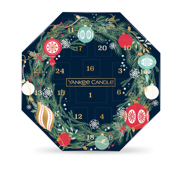 Yankee Candle Countdown To Christmas Wreath Advent Calendar